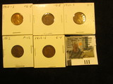 1910 S Very Good, 11D VG, 11S G, 12P Fine, & 12S Good Lincoln Cents.