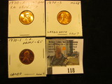 1970 S Small Date, Level 7, Red MS 60+; 70 S Large Date, Low 7, Red MS 65; & 70 S Large Date, Low 7