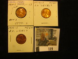 (2) 1970 S Small Date, Level 7, Red MS 60+; & 70 S Large Date, Low 7 Proof Lincoln Cents.