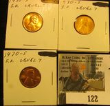 Trio of 1970 S Small Date, Level 7, Red Brilliant Uncirculated. Red Book $165.00.
