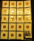 (19) Uncirculated or Proof Lincoln Cents in a 2
