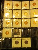 (13) Uncirculated or Proof Lincoln Cents in a 2