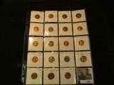 (19) different Uncirculated or Proof Lincoln Cents in a 2