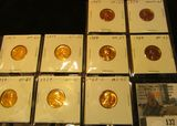 (8) 1959 P Proof & 1968 S Gem BU Lincoln Cents.