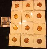 (5) 1950D, 50S, 51P, D, S, 52S, & (2) 53D BU Lincoln Cents.