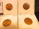 1947S, 48D, S, & 49D Lincoln Cents, mostly Red Lincoln Cents, Brilliant Uncirculated.