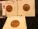 1946 P, D, & S Lincoln Cents, mostly Red Lincoln Cents, Brilliant Uncirculated.