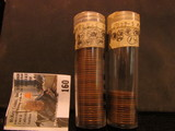 (64) 1929 S Lincoln Cents in a plastic tube, all grading Fine. Red Book $90+.