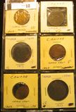 (6) 1859 Canada Large Cents, (3) VG, (1) Fine, (2) VF with various problems.