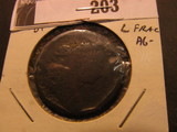 1803 U.S. Large Cent, small date, large fraction.