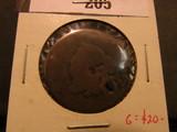 1826 U.S. Large Cent, AG holed.