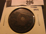 1827 U.S. Large Cent, AG holed, strong date.