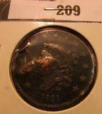 1831 U.S. Large Cent, VF details.