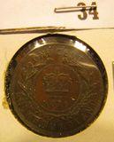 1876H Newfoundland One Cent, VF.