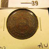 1929 Newfoundland One Cent, AU.