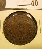 1936 Newfoundland One Cent, VF.