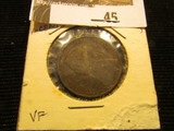 1864 New Brunswick One Cent, VF.