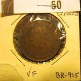 1871 Prince Edward Island One Cent, VF.