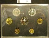 1988 Hong Kong Proof Set in original plastic by no outer packaging.