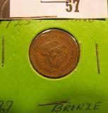 1923 Mexico One Centavo AU.