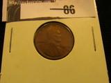 1909 P VDB Lincoln Cent, EF.