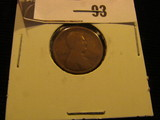 1909 S Lincoln Cent, Rare, Scarce Date. Good.