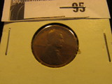 1909 S Lincoln Cent, Rare, Scarce Date. VG.