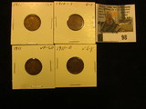 1910 P VF, 10 S Good, 11P VF, & 11D VG Lincoln Cents.