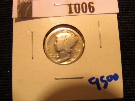 1006. 1921 MERCURY DIME