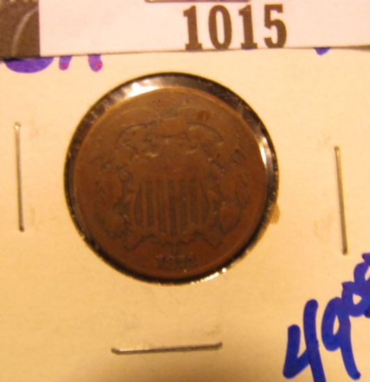 1015. 1871 TWO CENT PIECE