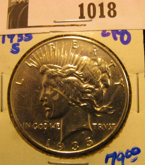 1018. BETTER DATE 1935-S PEACE DOLLAR