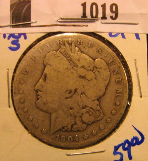 1019. 1904-S Morgan silver dollar