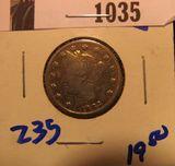 1035. 1883 no cents v nickel