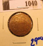 1040. 1868 TWO CENT PIECE