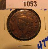 1053. 1829 Large Cent