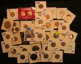 1059. SMALL COIN COLLECTION INCLUDES PROOF QUARTERS, PROOF KENNEDY HALVES, COINS FROM SPEC