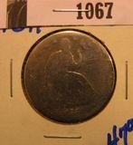 1067. 1871 SEATED LIBERTY HALF DOLLAR