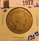 1072. 1892 O Barber Half Dollar. Key date.