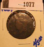 1077. 1829 coronet head large cent
