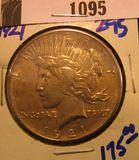 1095. 1921 Peace Dollar, key date