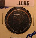 1096. 1845 Large Cent