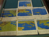 1102. (7) World War II Theatre Maps, copyright 1944, by Remington Rand. All ready for fram