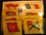 1107. (8) Different Silk Advertising flags from