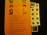 1135. (4) Lincoln - Kennedy Comparison Sheets; & several scarcer date carded Lincoln Cents