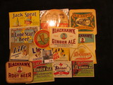 1136. (15) Different Pieces of Beverage or Alcohol related labels, memorabilia, & etc.