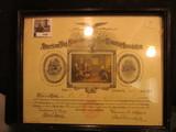 1143. Framed Certificate Issued 1918