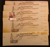1148. Group of 25 unissued checks from 1910 era