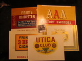 1149. Group of five unused Cigar Box Labels from 1920-30 era.