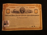 1163. 1877 Five Thousand Dollar Mortgage Bond dated 1877 and payable in 1917