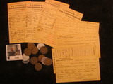 1178. (8) R.P.O. Postmarked 1879 era Postal Cards; & a nice group of old Good For Tokens.